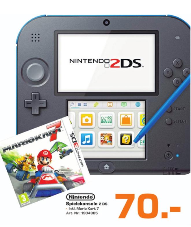 [Lokal Saturn Osnabrück] Nintendo 2 DS inkl. Mario Kart 7