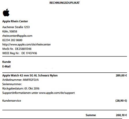 [lokal K-Weiden] Apple Watch Sport 42mm mit Nylon-Band (-10% auf Angebotspreis)