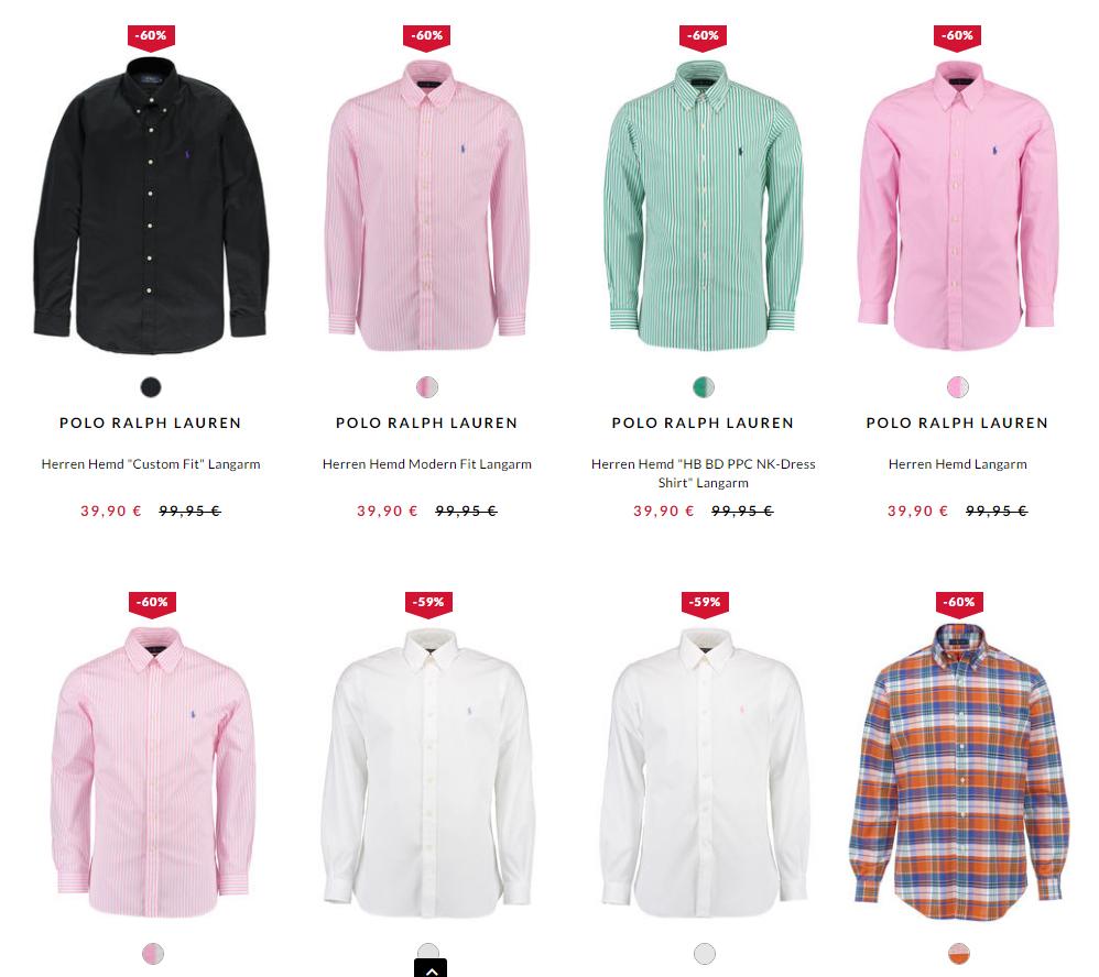2 Polo Ralph Lauren Hemden für 74,80 € - Riesige Farb- und Modell Auswahl!! 1 Hemd also nur 37,40€ - inklusive Versand!