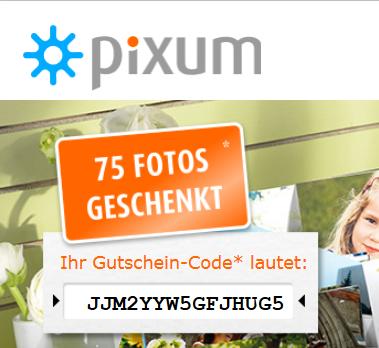 [Pixum] 75 Fotos geschenkt (10cm-Format) zzgl. 3,99 € Versandkosten