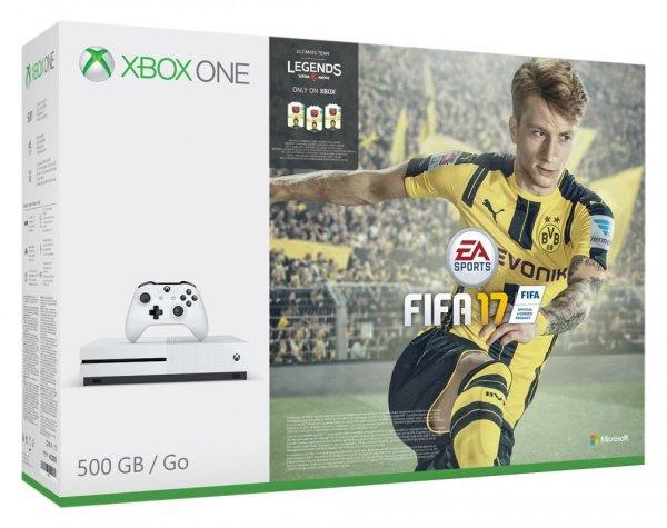 Microsoft Xbox One S 500GB + Fifa 17 für 266€ (Amazon.co.uk)