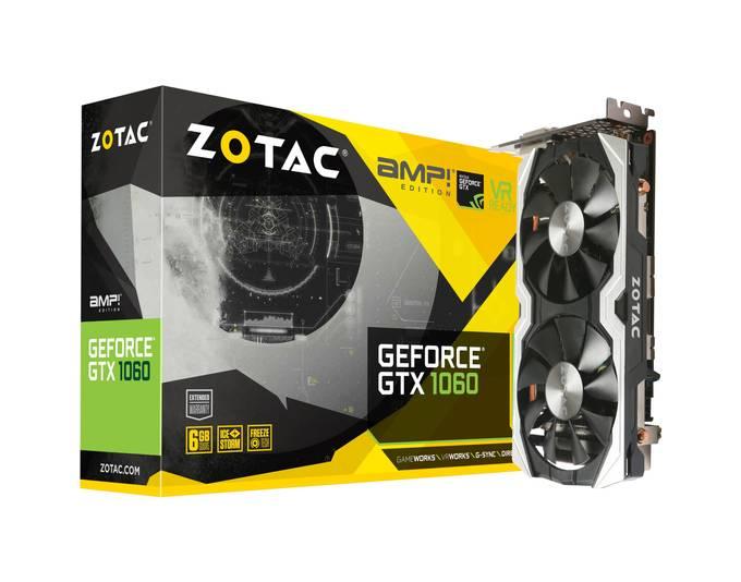 ZOTAC GeForce GTX 1060 AMP! Edition, Grafikkarte ( auch für 276,29€ erhältlich )