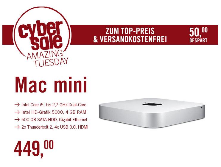 (CyberPort) CyberSale Apple Mac mini 1,4 GHz Intel Core i5 (MGEM2D/A)