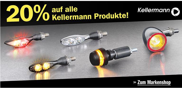 20% auf Kellermann (Motorradblinker und -zubehör) bei Loius [on und -offline]