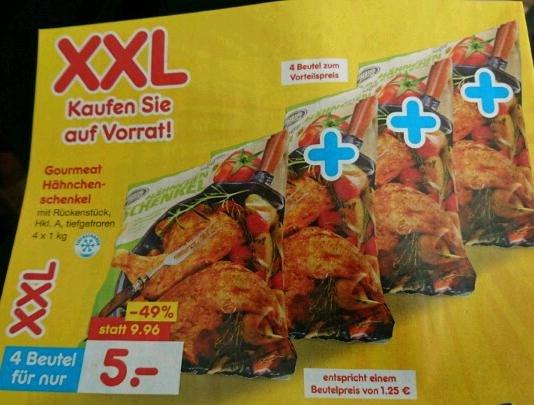 4 kg Hähnchenschenkel für 5 Euro bei Netto TK