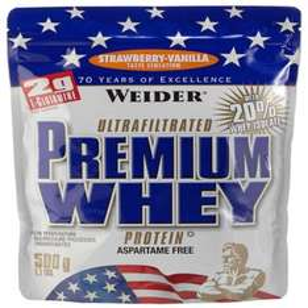 [BLITZANGEBOT] Weider Premium Whey Protein, Strawberry - Vanille, 500g Beutel
