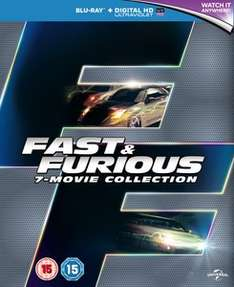 (Zavvi) Fast & Furious 1-7 Boxset (Includes UltraViolet Copy) Blu-ray in OS z.T. in deutsch