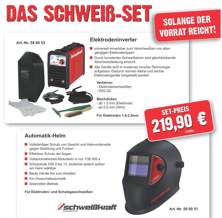Elektrodenschweißgerät inkl Automatikschweißhelm [lokal] Handelshof Cottbus