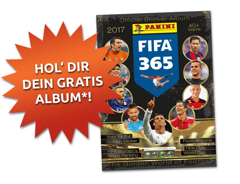 PANINI Stickeralbum gratis - FIFA 365