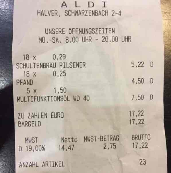 [Lokal ALDI Halver] WD-40 Multifunktionsöl WD40 Rostlöser 300ml-Dose für 1,50 €