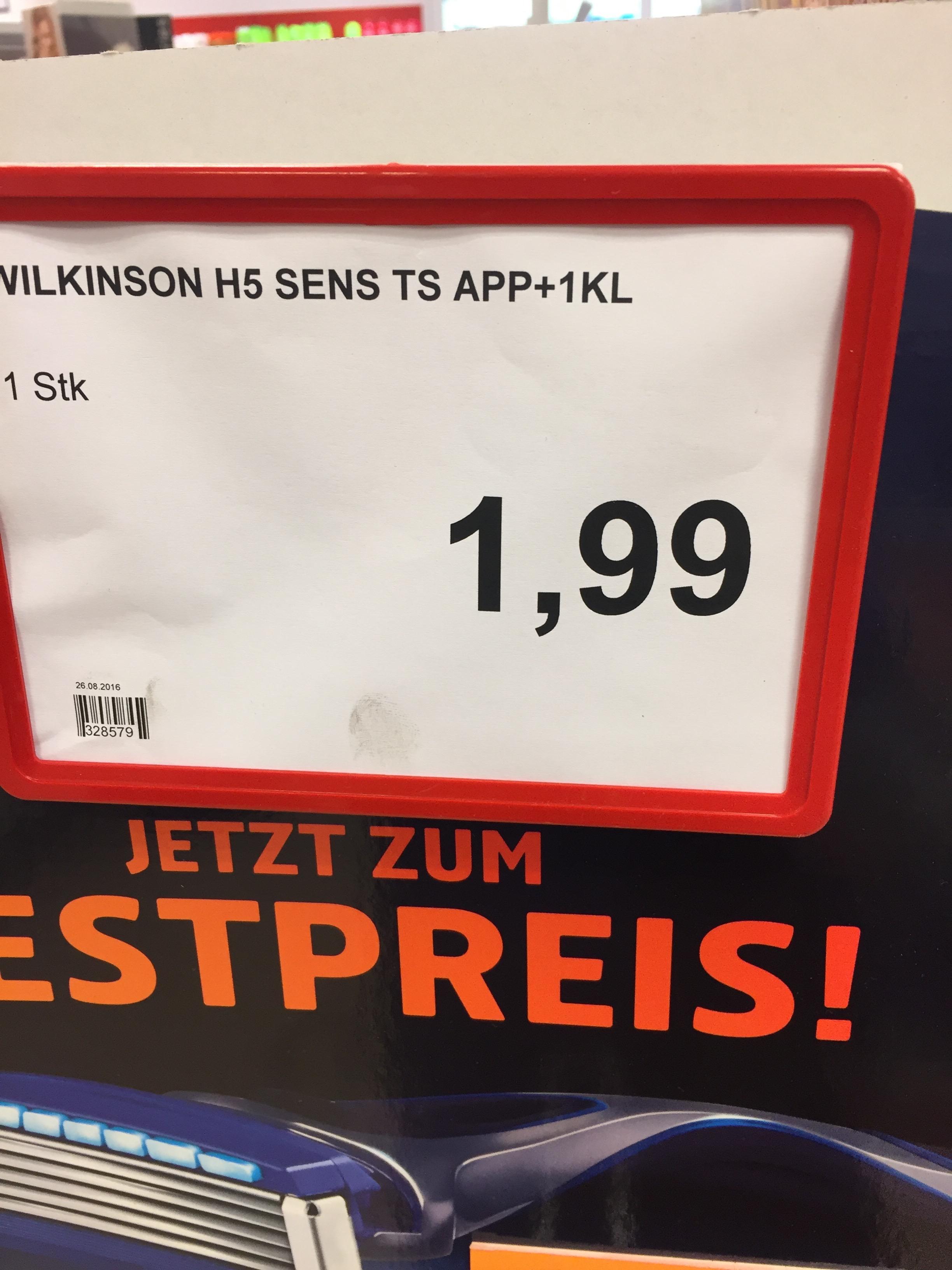 |Rossmann Lokal!Bundesweit?| Wilkinson Hydro 5 mit einer Klinge für 1,95 €
