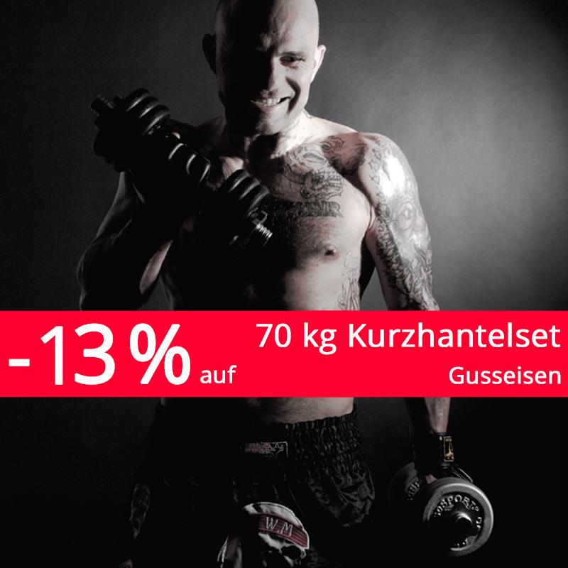 70 kg Kurzhantelset Gusseisen --> 99,95 € statt 114,95 € (kostenloser Versand)