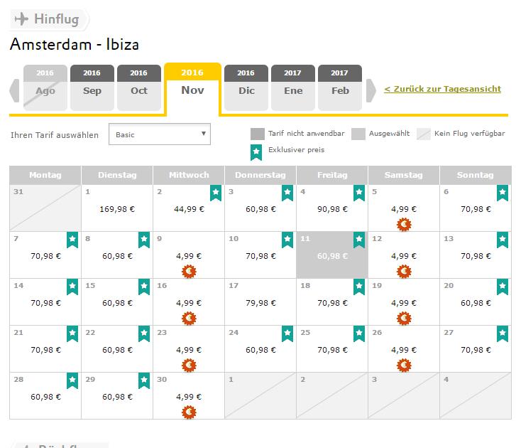 VUELING für 10 Euro von Amsterdam nach Gran Canaria / Ibiza im November, Hin- & zurück