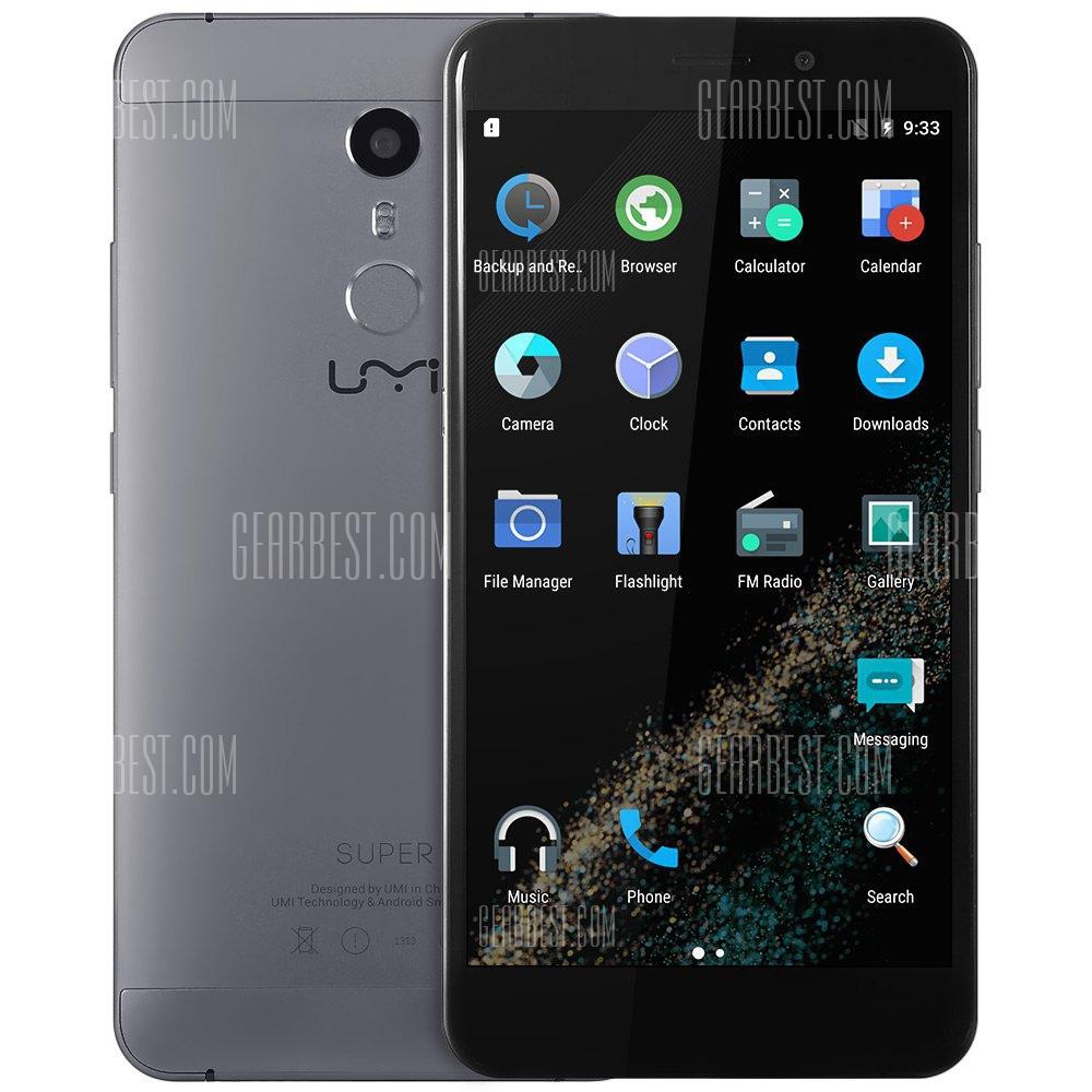 UMI Super 4G - 5.5 Zoll - Android 6.0 - 4GB RAM - Helio P10 64bit Octa Core 2.0GHz  - Fingerprint-Sensor [Gearbest]