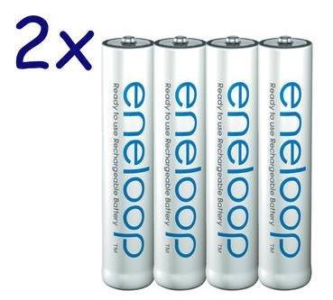 (Allyouneed) 8x Panasonic eneloop, Micro AAA Akku, NiMH, 800mAh, geringe Selbstentladung für 11,95€