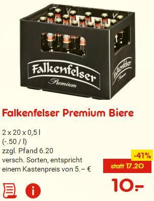 Für den Winterspeck: 40 Flaschen je 0,25 € jetzt hamstern. [Lokal Franken, ggf. bundesweit]