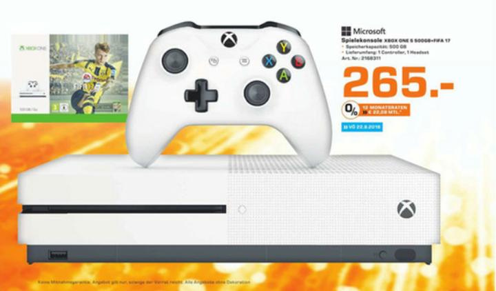 [Lokal Saturn Osnabrück] Xbox One S + Fifa 17