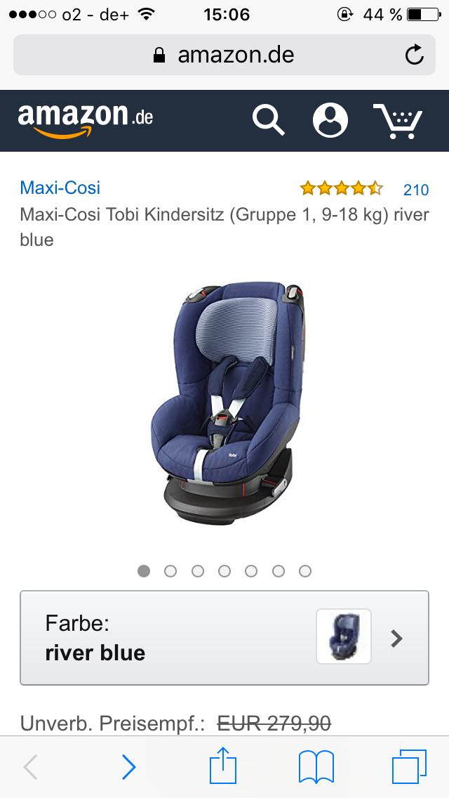 Maxi-Cosi Tobi Kindersitz (Gruppe 1, 9-18 kg) river blue