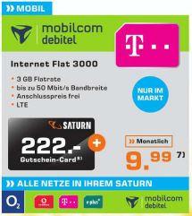 [Saturn Osnabrück] Internet Flat 3000 für effektiv 0,74€/Monat