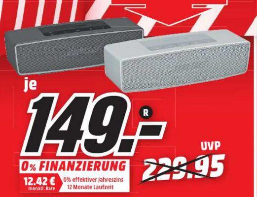 [Lokal Mediamarkt Passau und Rheine) Bose SoundLink Mini II für je 149,-€ (Beide Farben)