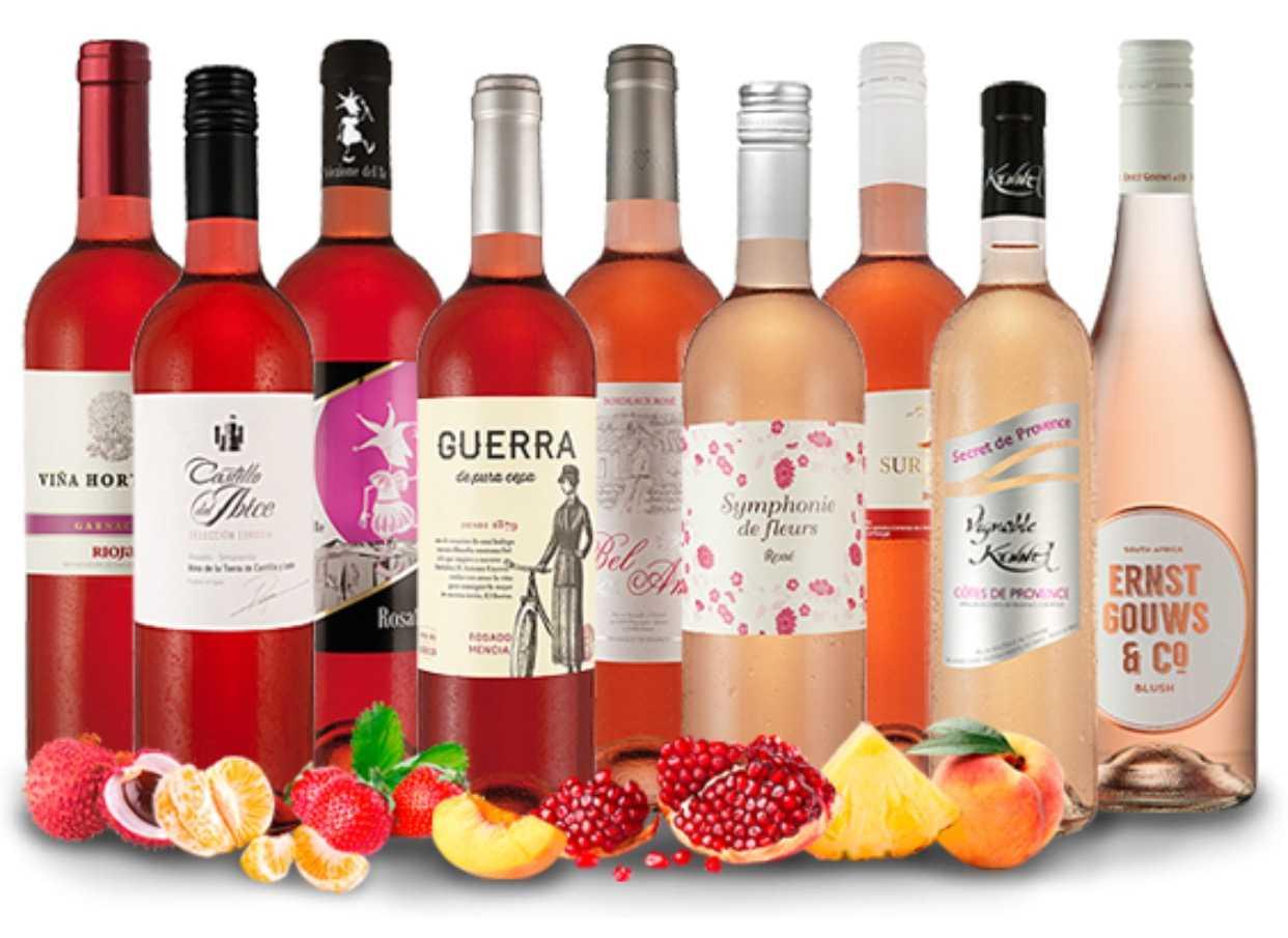 Probierset mit 9 verschiedenen Roséweinen für 39,99€ anstatt 94,39€
