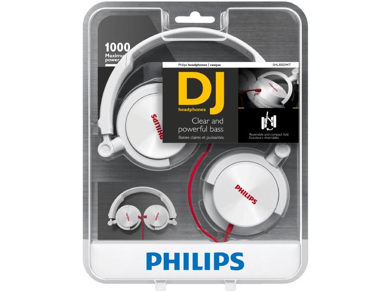 PHILIPS SHL3050WT Kopfhörer Weiß, 3,5mm Klinke für 12€ @Media Markt.de