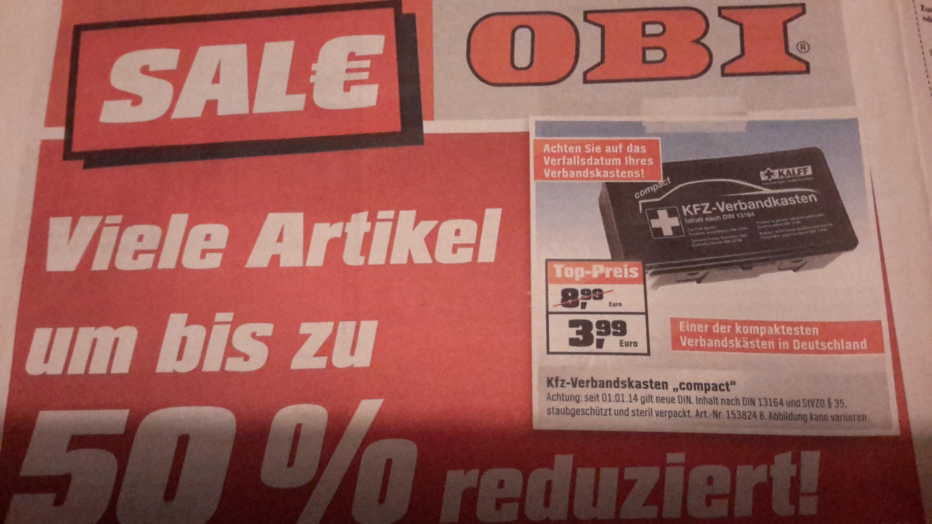 [lokal miltenberg] OBI - KFZ-Verbandskasten
