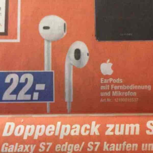 [lokal] Apple EarPods mit Remote für 22€ bei Expert u.a. in Herford
