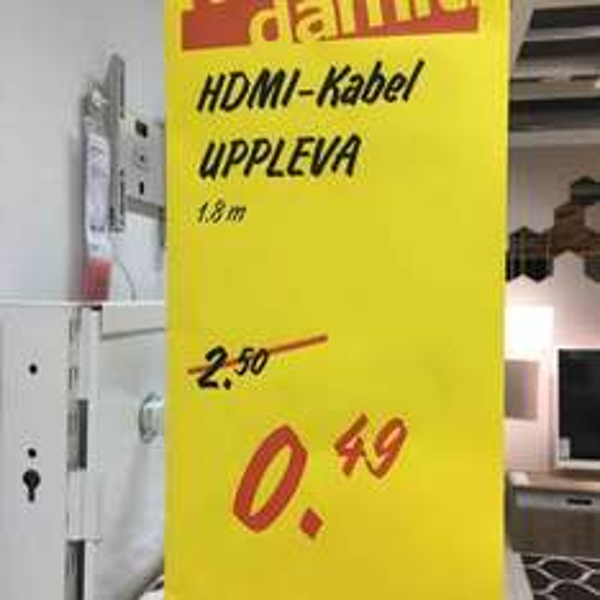 [Lokal Ikea Grossburgwedel] HDMI-Kabel
