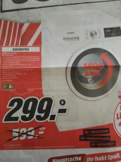 [Lokal MM Neu-Ulm] Siemens Waschmaschine A+++ 7kg 1400U/Min