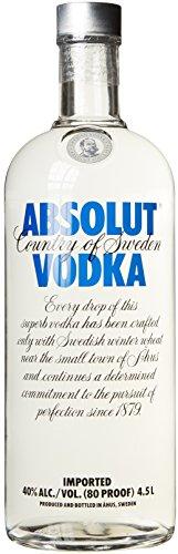 Absolut Wodka 4,5l Großflasche f. 82,99 inkl VSK @ amazon deals bis 19:00Uhr
