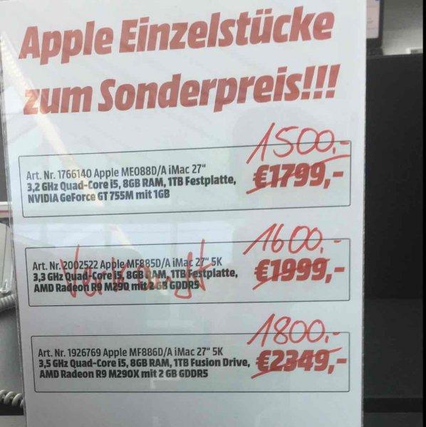Lokal Halstenbek bei Hamburg , Apple iMac 27 ME088D/A für 1500,-
