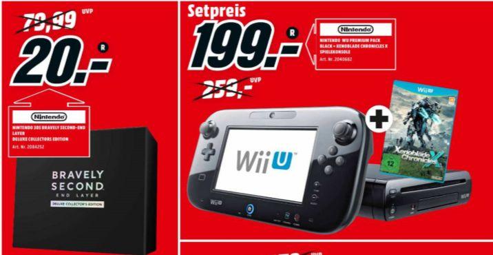 [Lokal Mediamarkt Weiden und Amberg/ Gaming Deals] zb.Bravely Second: End Layer - Deluxe Collectors Edition (3DS] für 20,-€ oder Nintendo Wii U Xenoblade Chronicles X Premium Pack für 199,-€
