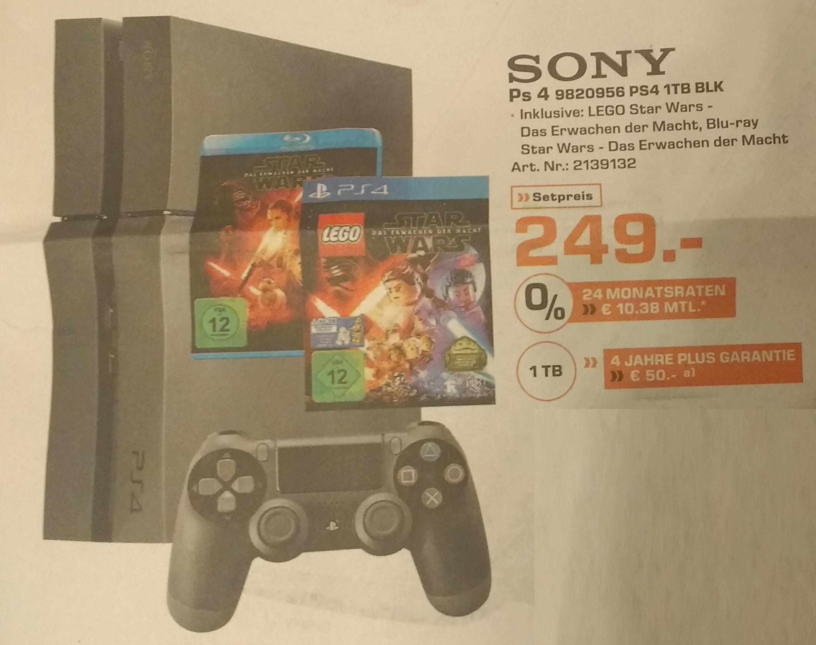 PS4 Konsole 1TB [Lokal] mit Star Wars Spielen für 249 €