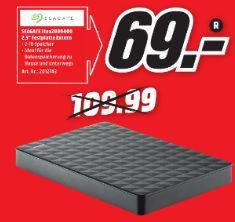 [Lokal Mediamarkt Stadthagen] Seagate Expansion Portable, 2TB, externe Festplatte (STEA2000400) USB 3.0 für 69,-€*Ausbaubar für PS4**