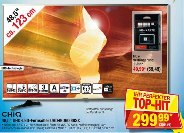 """[METRO] Changhong 48,5"""" UHD-LED-Fernseher - 28% sparen"""