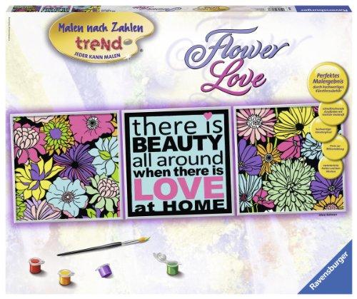 Einige [Amazon Plus] Bilder zum ausmalen (inkl. Acrylfarben) und Puzzle, z.B. Ravensburger 28973 - Flower Love, Malen nach Zahlen Triptychon für 5,67 €, PVG: 18,97 €