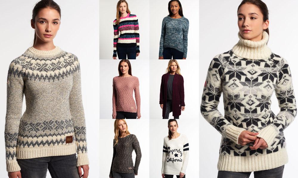 Damen Superdry Pullover Versch. Modelle und Farben