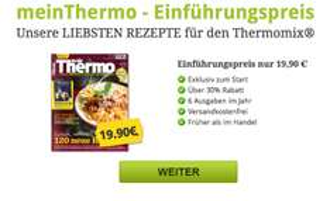 Thermomix Zeitschrift zum Einführungspreis 19,90 statt 27,90