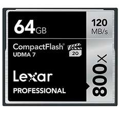 [Amazon Blitzangebot: bis 17:00 Uhr] Lexar Professional CompactFlash 64GB (800x, 120MB/s) 46,90 EUR