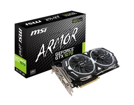 MSI GeForce GTX 1070 ARMOR 8G OC + (ggf.) GoW4 Code dazu für 409,45€