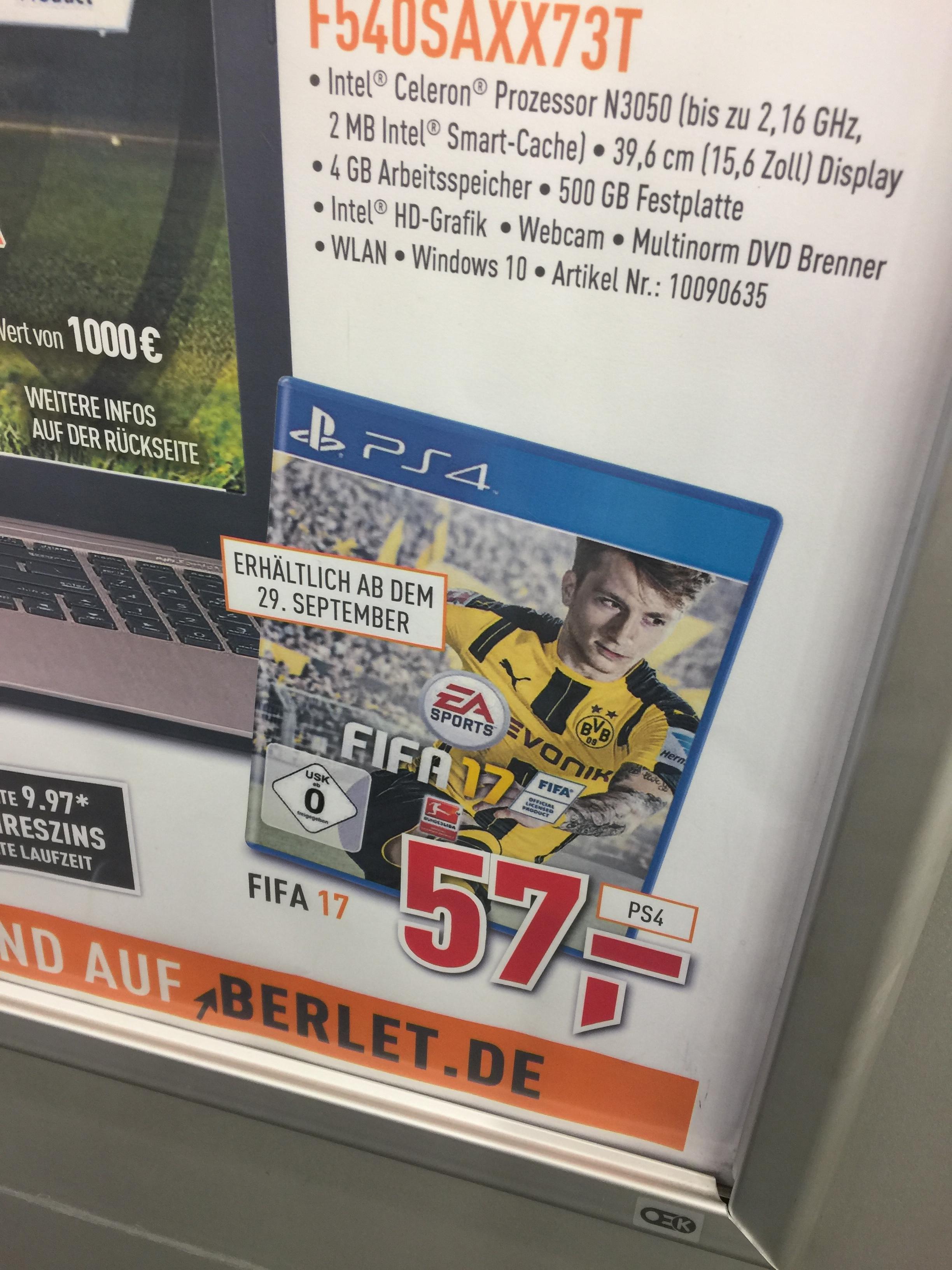FIFA 17 für 57€ bei Berlet