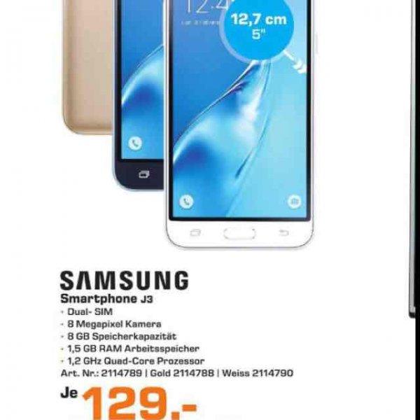 [Lokal Saturn Bocholt] Samsung J3 für 129€