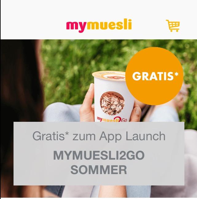 85g Bio-Müsli gratis bis 30.09.2016 über mymuesli-App [ IOS ]