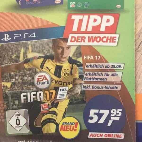 (Real) Fifa 17 für PS4 57,95€