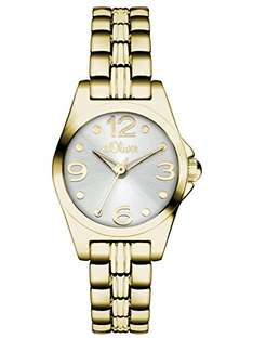 s.Oliver Armbanduhr Gold SO-3043-MQ @Amazon 50% OFF
