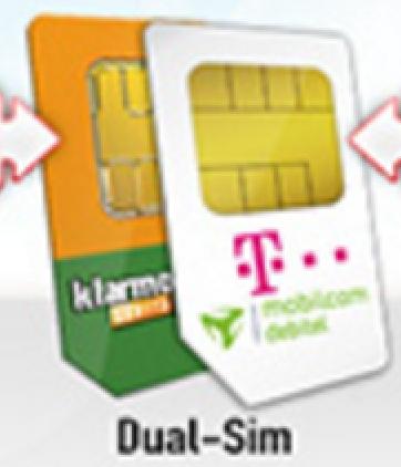 Dual-SIM: 100 Freiminuten, 1,3 GB, Telekom-Netz für 3,85 € / Monat | mit 3,3 GB für 7,35 € | oder 6,3 GB für 10,35 €