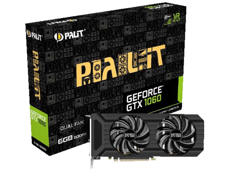 [MediaMarkt] PALIT GeForce GTX 1060 Dual (NVIDIA, 6 GB, PCIe) - VERSANDKOSTENFREI