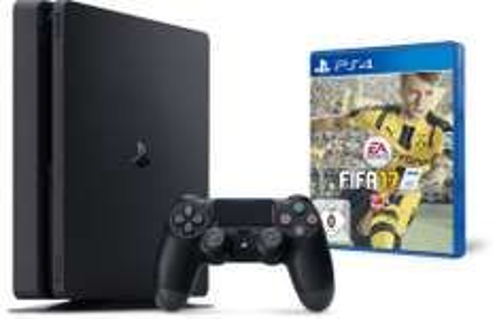 Ebay WOW Sony Playstation 4 / PS4 SLIM - 500GB + FIFA17 inkl. VB-Boni