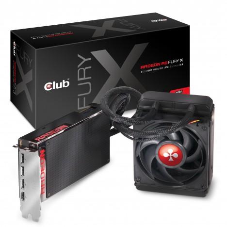 Club 3D Radeon R9 Fury X Hybrid, 4GB HBM, HDMI, 3x DisplayPort für 407,31€ (PVG 731,89€)